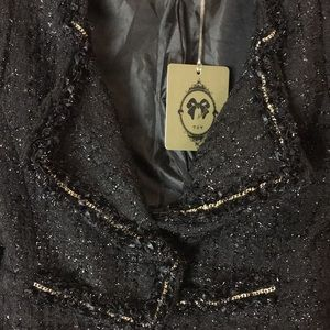 TOV Holy Jackets & Coats - Beaded Crop Jacket